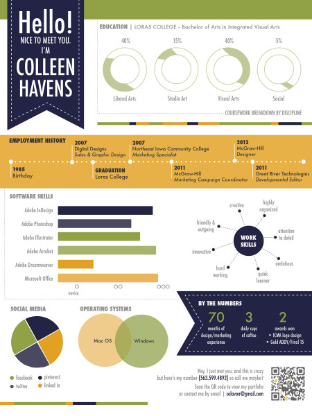 Visual Resume Infographic