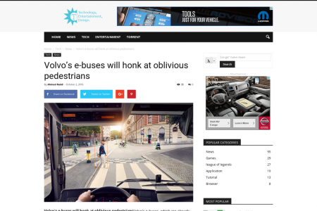 Volvo's e-buses will honk at oblivious pedestrians Infographic