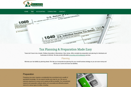 Wallace Associates: Tax Planning & Preparation Made Easy Infographic