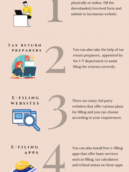 Ways for easy tax filling Infographic