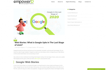 Web Stories: What is Google Upto in The Last Stage of 2020? Infographic