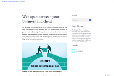 Web span between your business and client Infographic