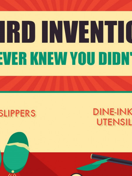 Weird Inventions You Never Knew You Didn't Need Infographic