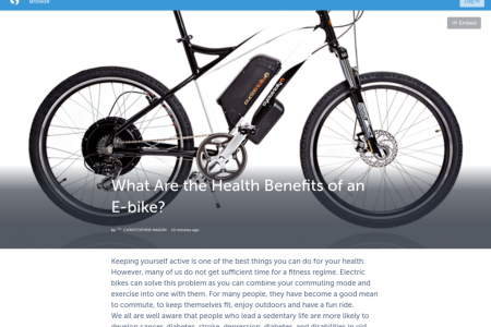 What Are the Health Benefits of an E-bike? Infographic