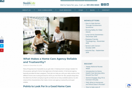 What Makes a Homecare Reliable and Trustworthy? Infographic