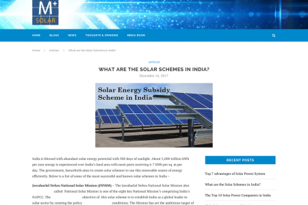 What are the Solar Schemes in India? Infographic