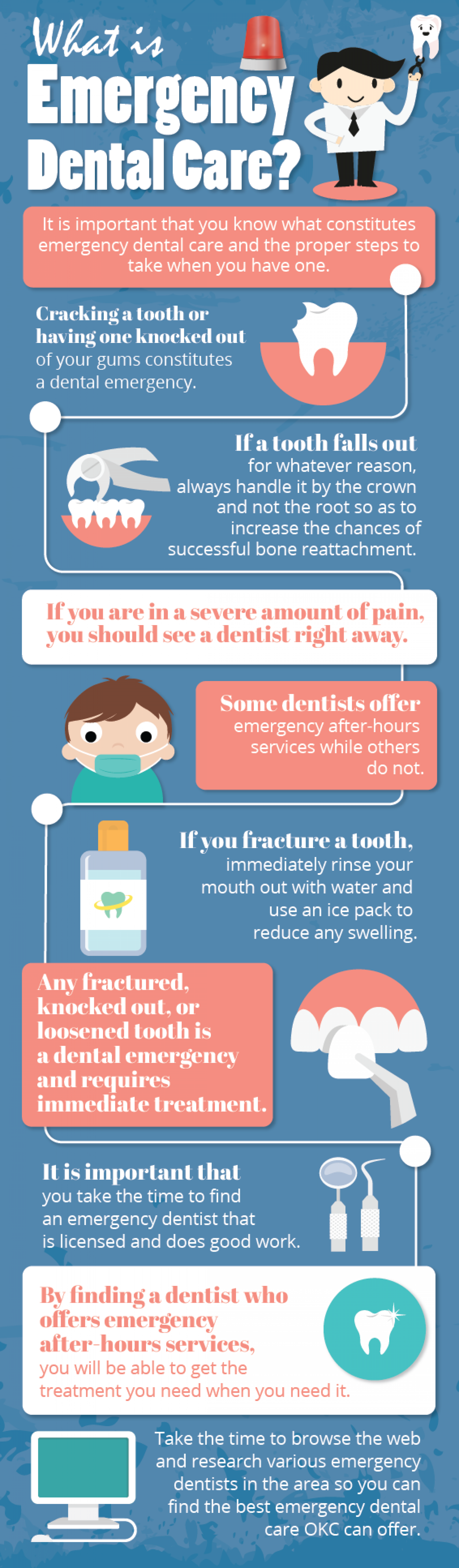 What is Emergency Dental Care? Infographic