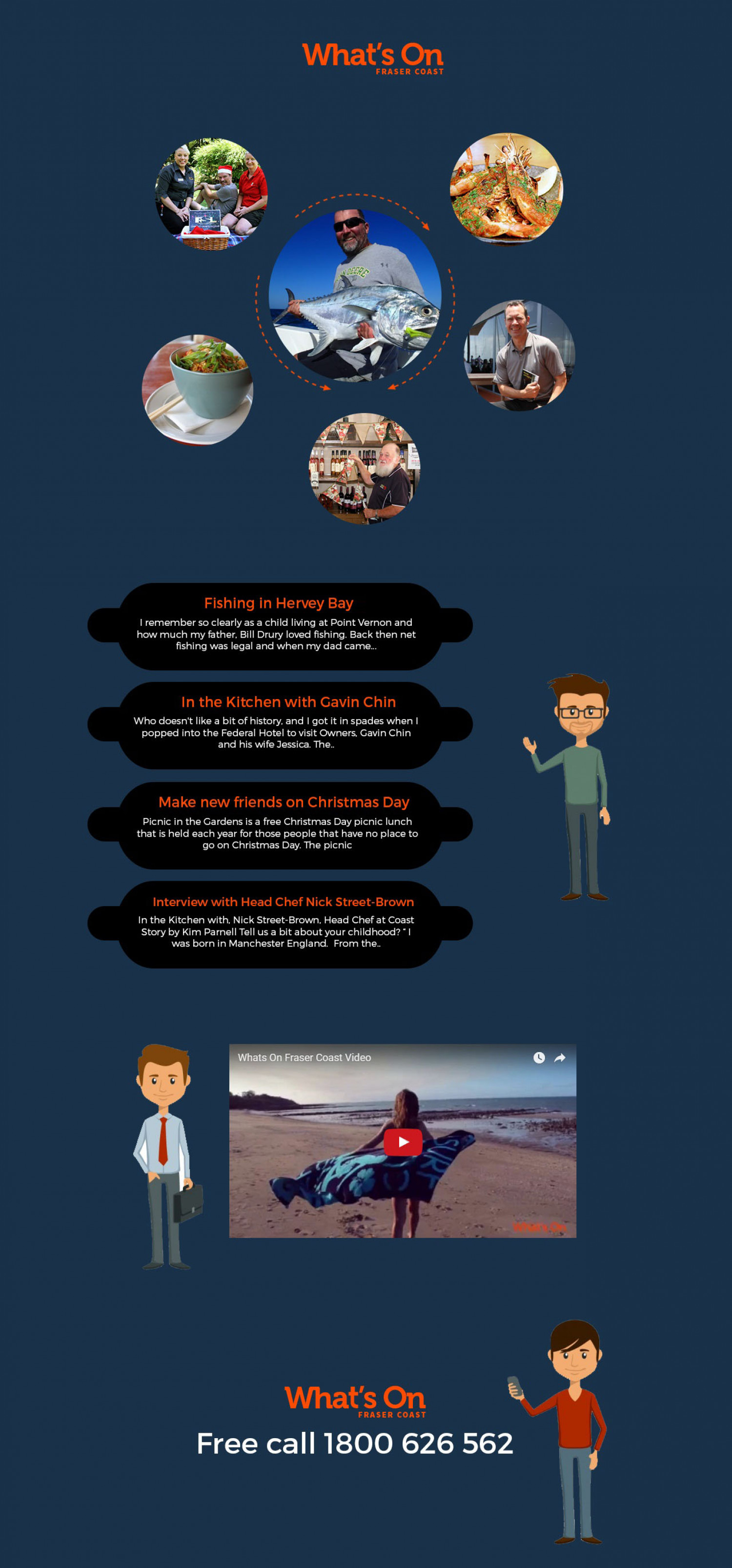 Whats on Fraser Coast - Australia Infographic