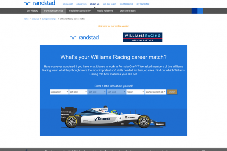 What's your Williams Racing career match? Infographic