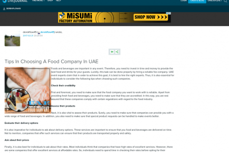 Why Hire A Food Company Infographic