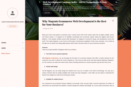 Why Magento Ecommerce Web Development is the Best for Your Business! Infographic