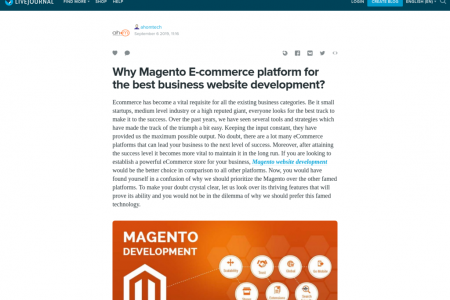Why Magento E-commerce platform for the best business website development? Infographic