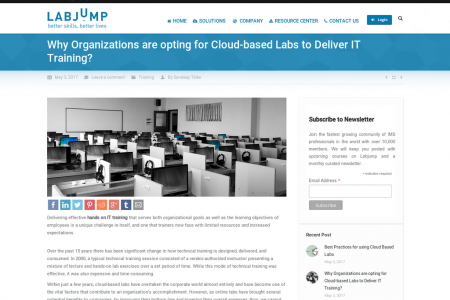 Why Organizations are opting for Cloud-based Labs to Deliver IT Training? Infographic