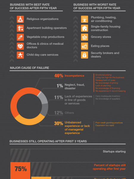 Why startups fail? Infographic