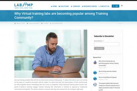 Why Virtual training labs are becoming popular among Training Community? Infographic