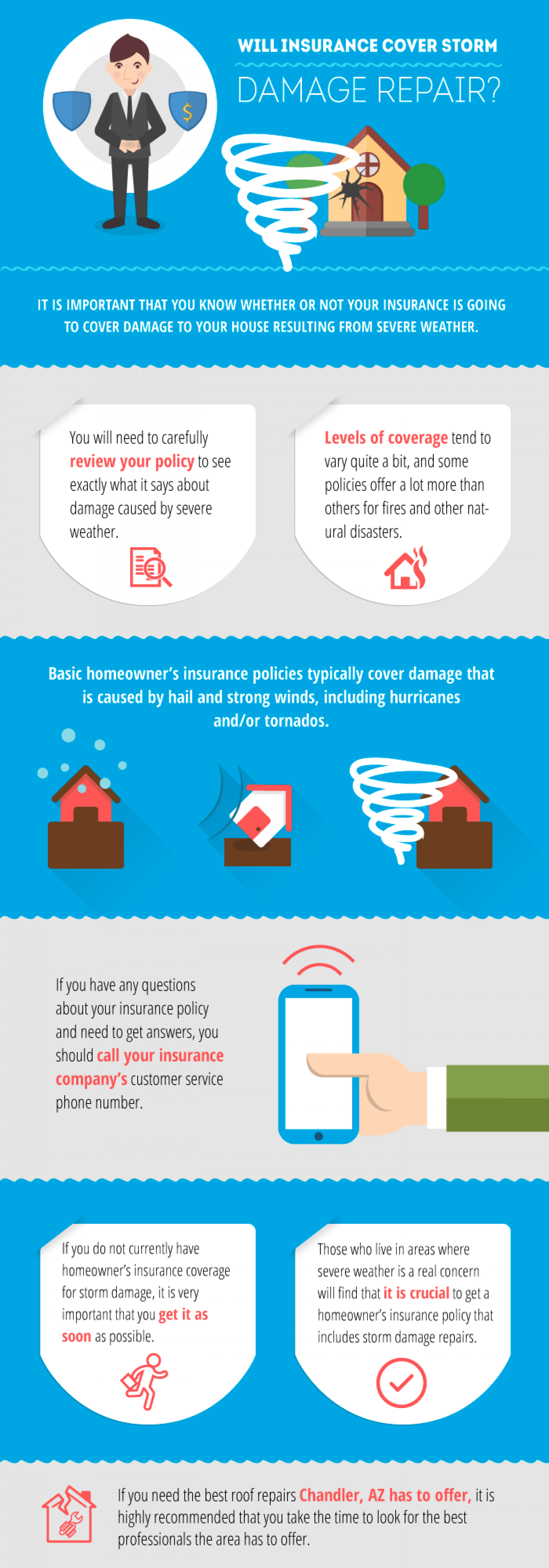 Will Insurance Cover Storm Damage Repair? Infographic