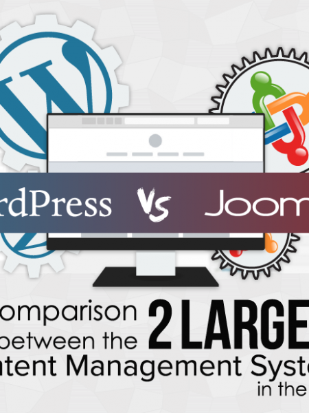 WordPress vs Joomla! CMS comparison Infographic