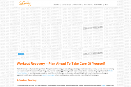 Workout Recovery – Plan Ahead To Take Care Of Yourself   Infographic