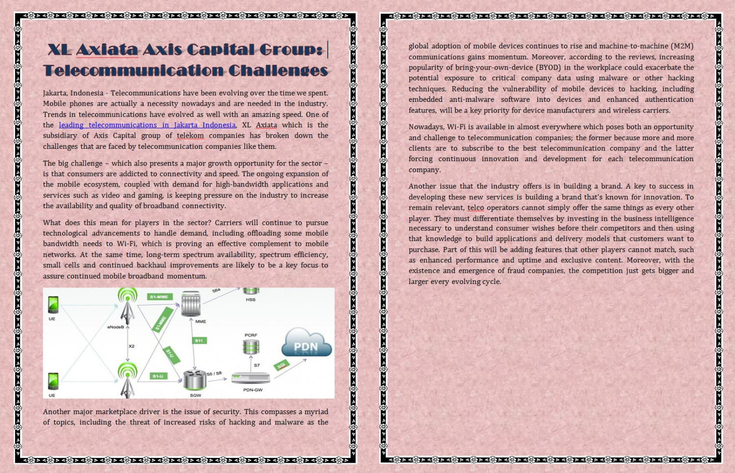 XL Axiata Axis Capital Group: Telecommunication Challenges Infographic