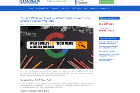 You Are What You E-A-T — What Google's E-A-T Score Means & Should You Care Infographic