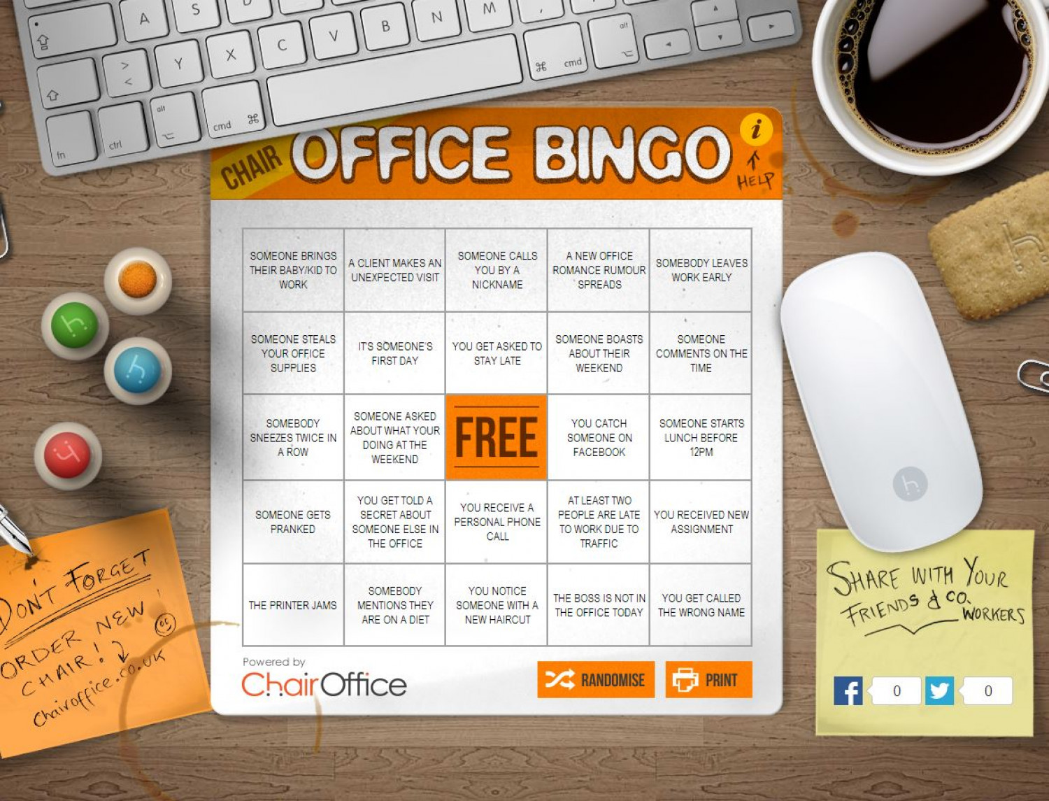 Office Bingo Infographic