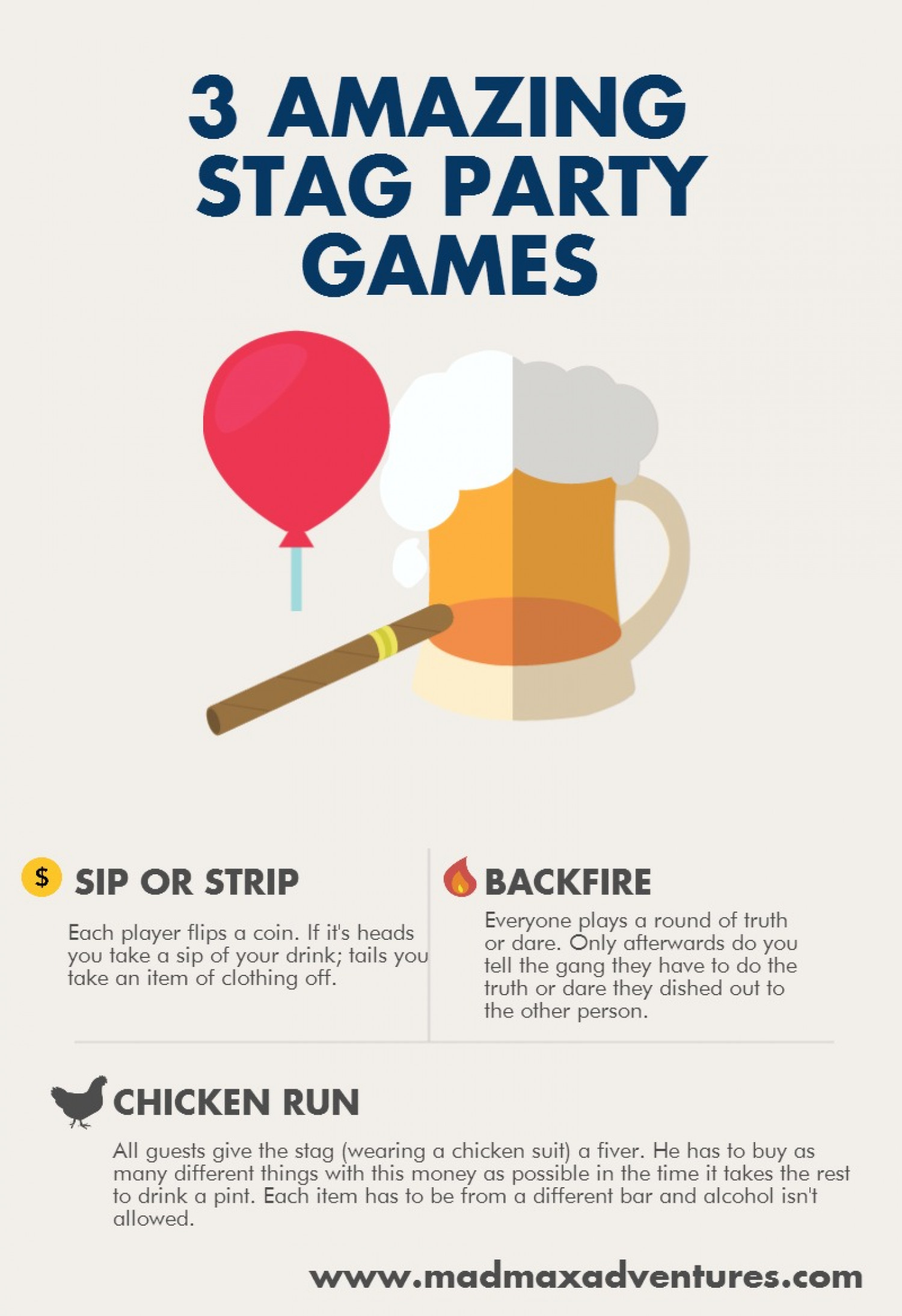 3 Amazing Stag Party Infographic