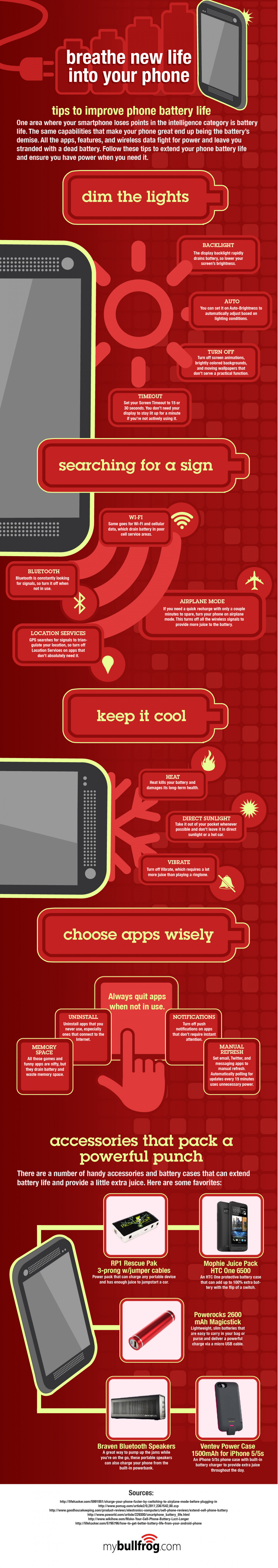 Breathe New Life Into Your Phone Infographic