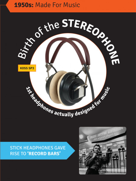 The Evolution of the Headphone Infographic