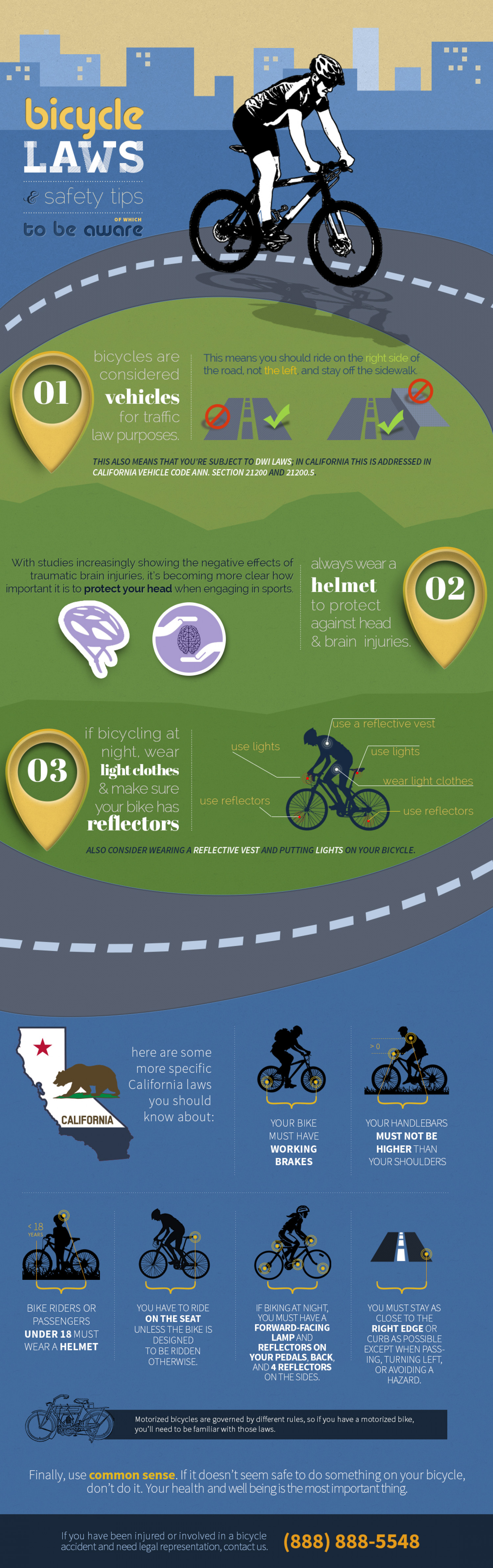 Bicycle laws Infographic
