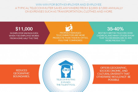 Telecommuting Infographic