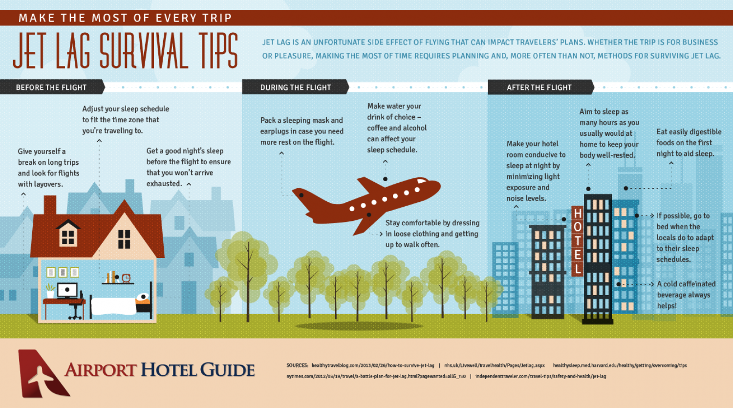 Jet Lag Survival Tips Infographic