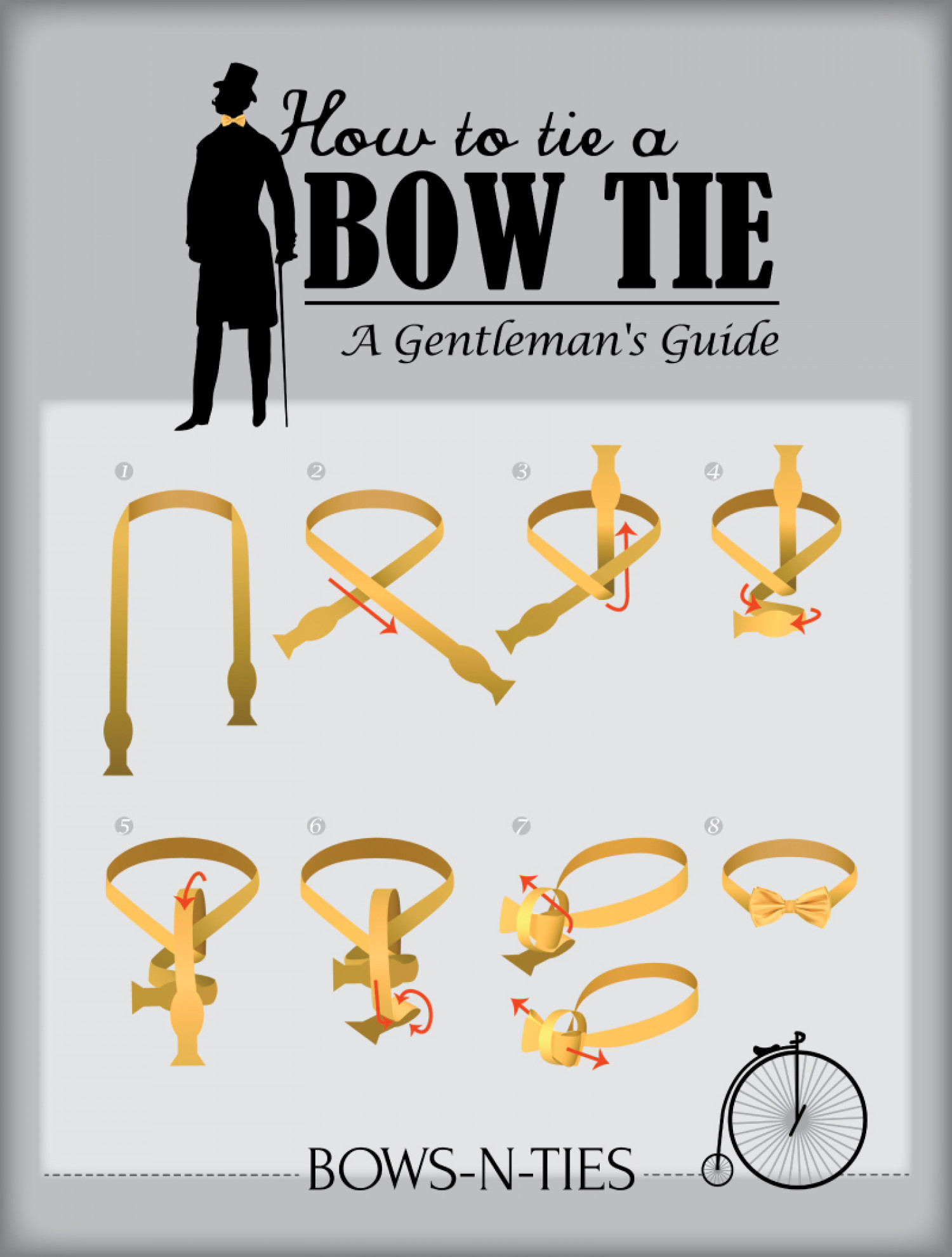 Gentlemans guide to tying a bow tie visual gentlemans guide to tying a bow tie infographic ccuart Gallery