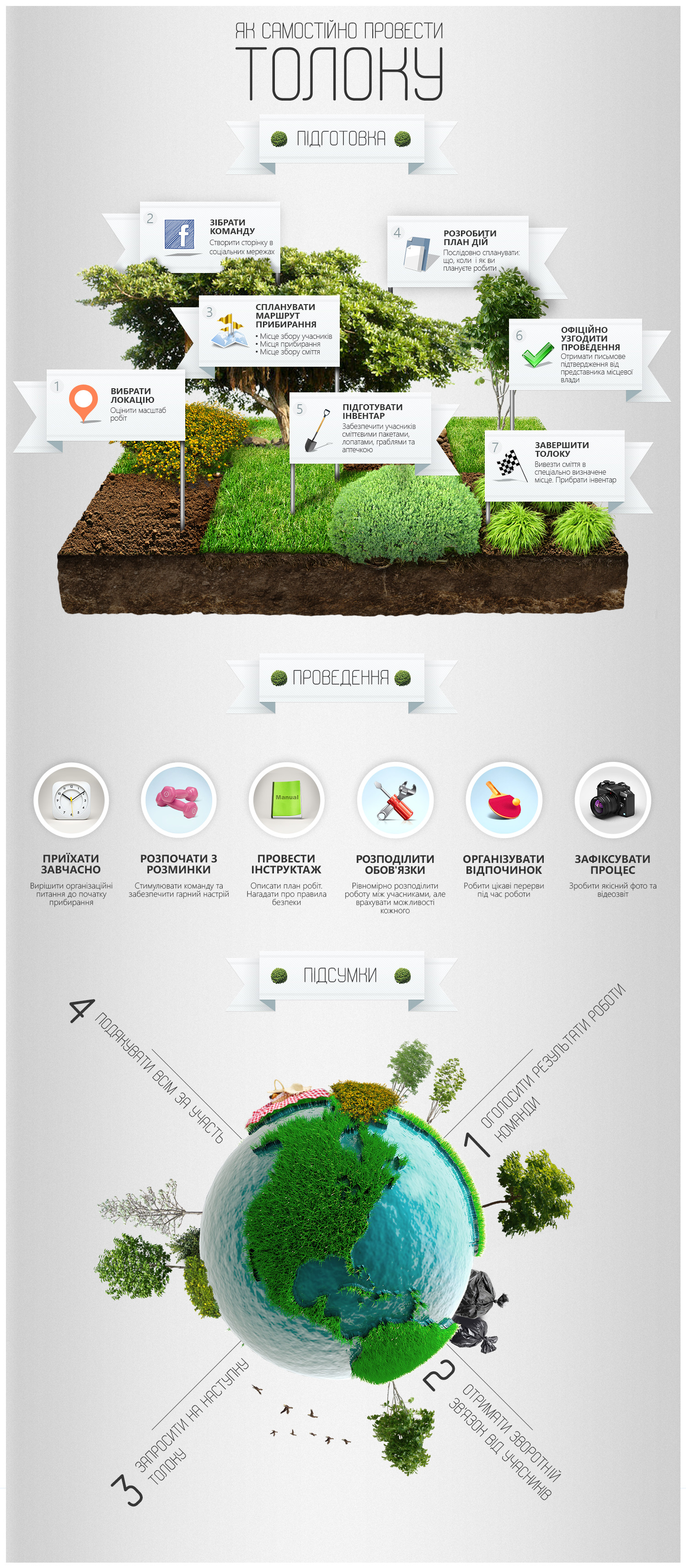 Be eco! Infographic