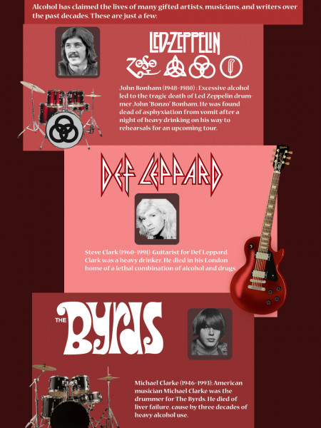 A Band's Tragedy | Recovery Rehab Addiction  Infographic