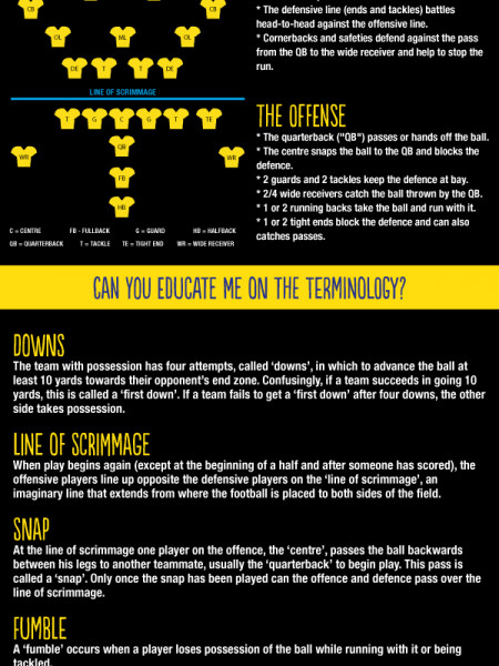 A beginner's guide to the Super Bowl Infographic