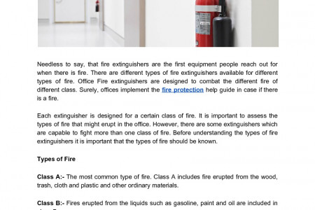 A Brief Explanation On Office Fire Extinguishers  Infographic