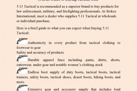 A Brief Guide to Buying Tactical Gear Infographic