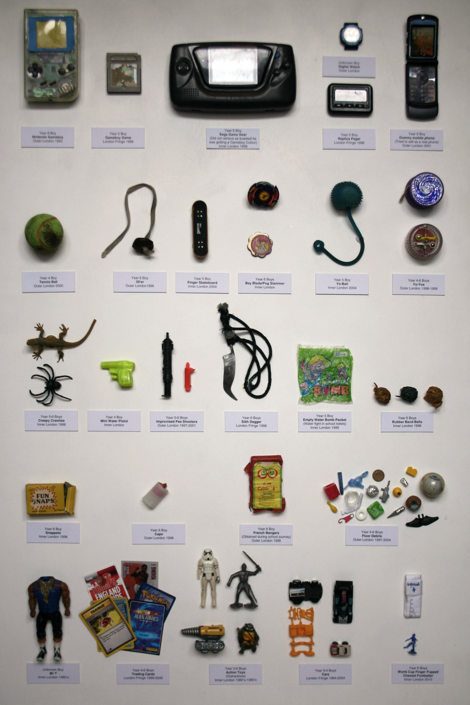 A British Teacher's Confiscated Toys Over 30 Years Infographic