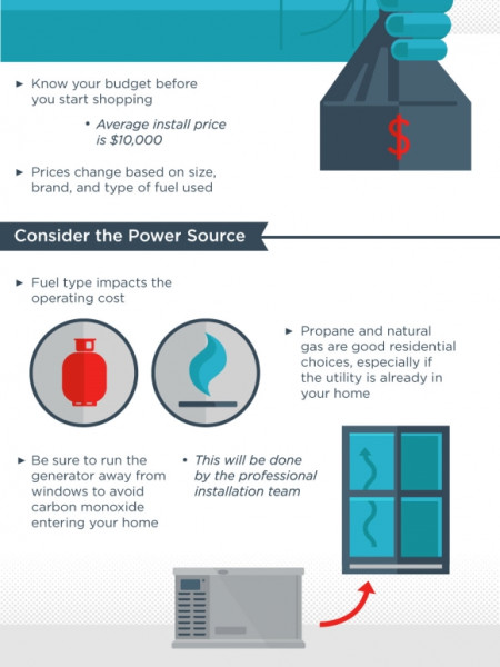 A Buyer's Guide to Generators Infographic