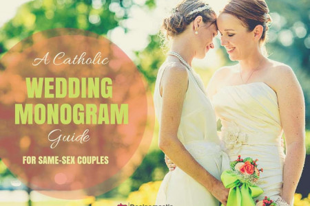 A Catholic Wedding Monogram Guide For Same-Sex Couples! Infographic