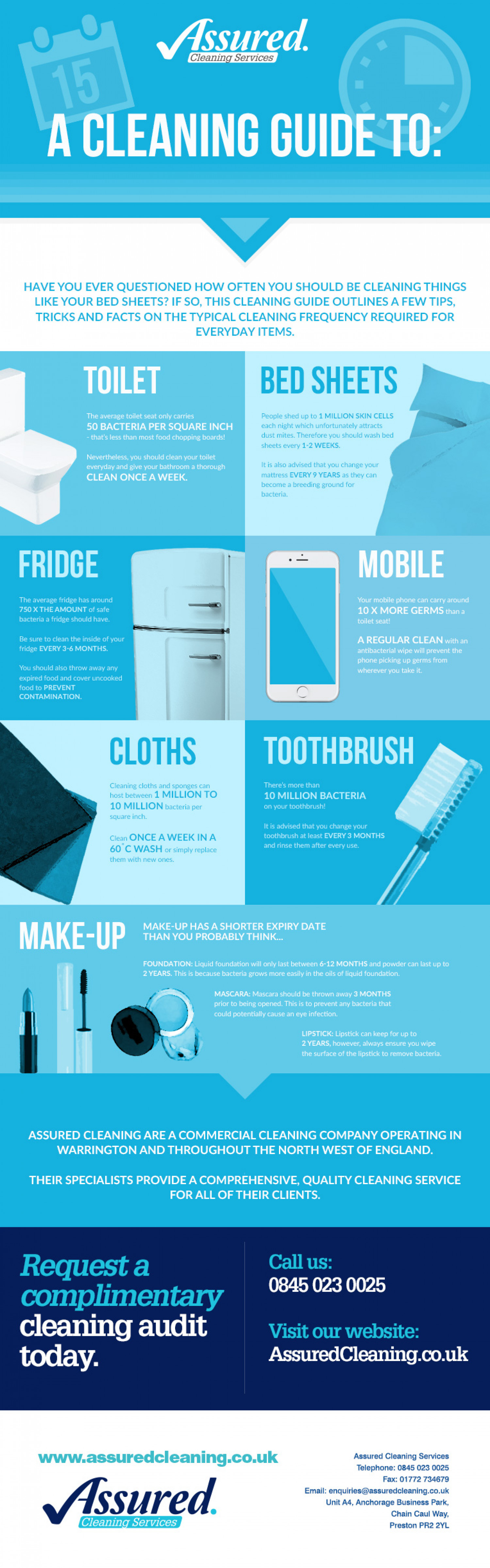 A cleaning Guide to: How Often? Infographic
