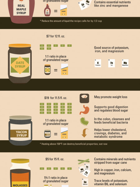 A Comprehensive Comparison of Sweeteners Infographic
