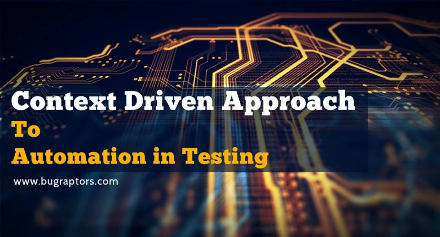 A Context-Driven Approach to Automation in Software Testing! Infographic