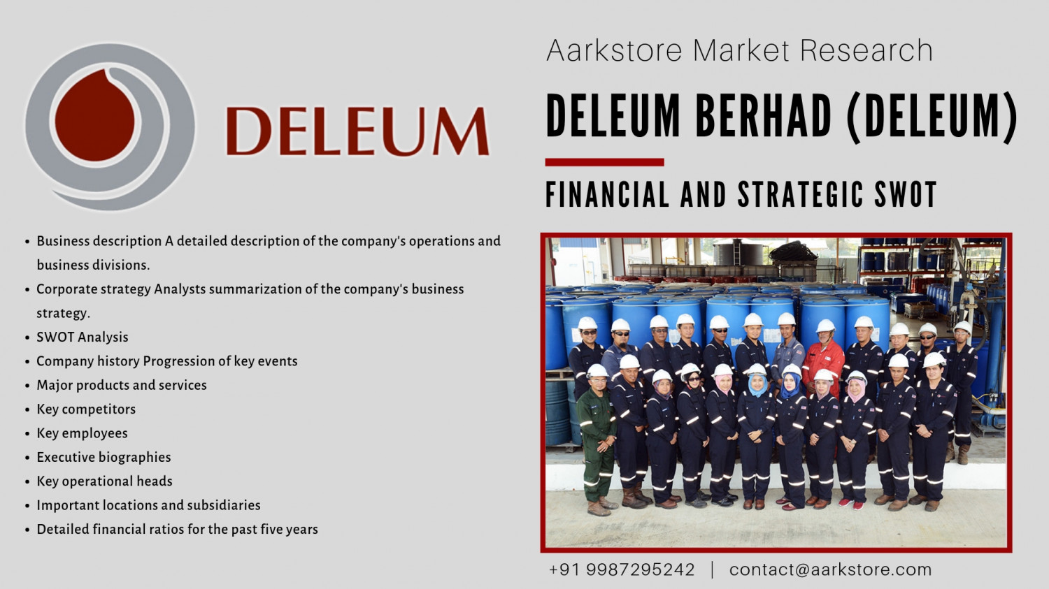 A distinct SWOT portrait of Deleum Berhad. Infographic