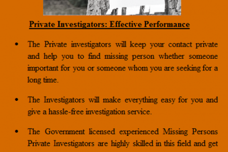 A Fantastic Way to Find Missing Persons by Hiring Private Investigators Infographic