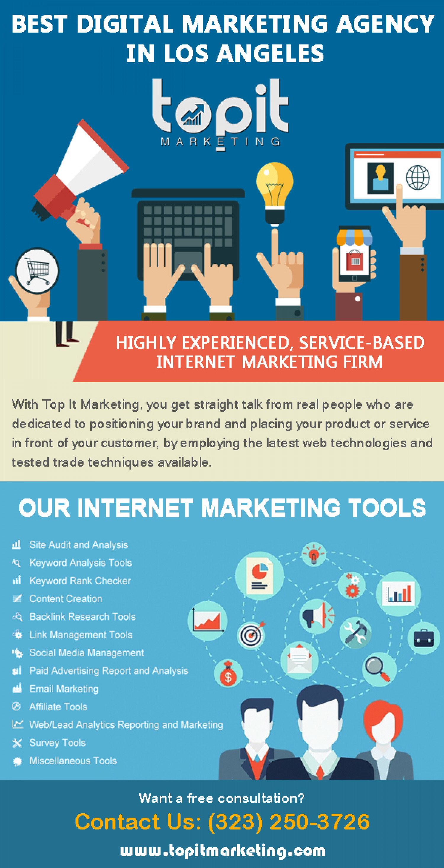 A Firm That Works For Your Progress Infographic