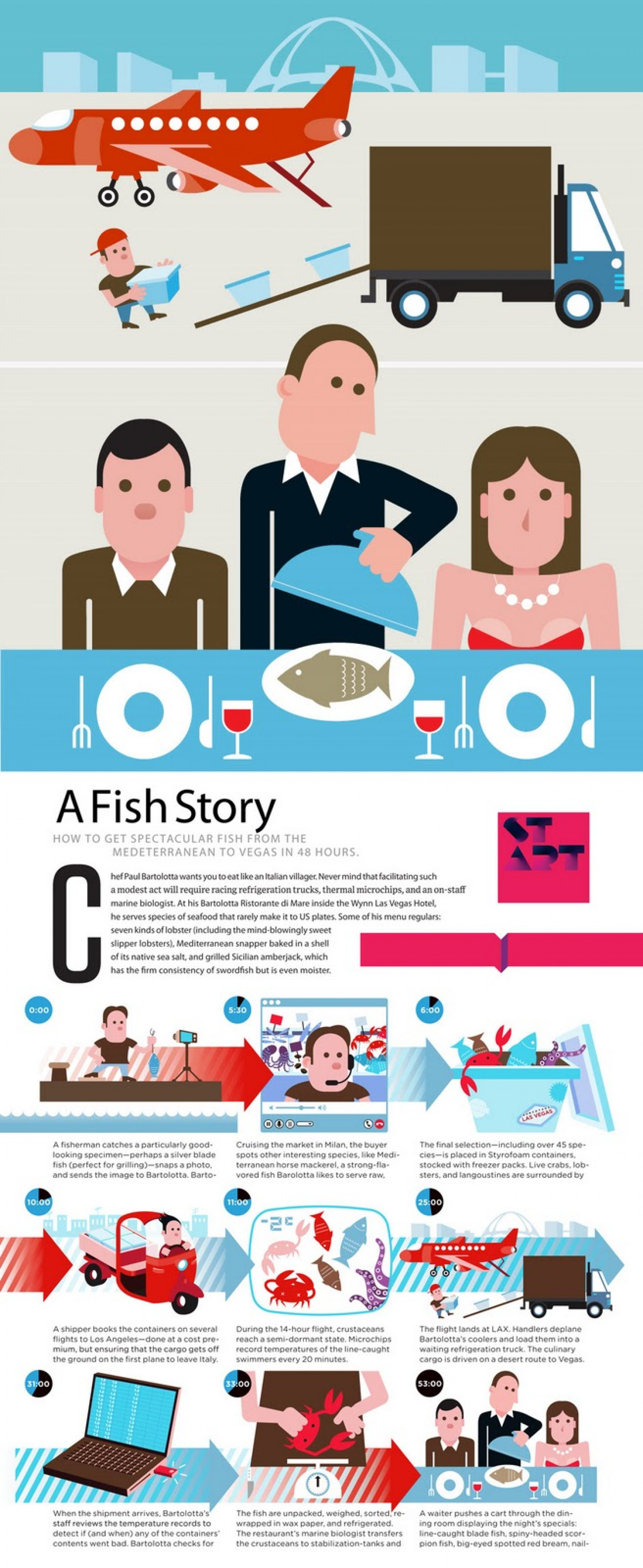 A Fish Story Infographic