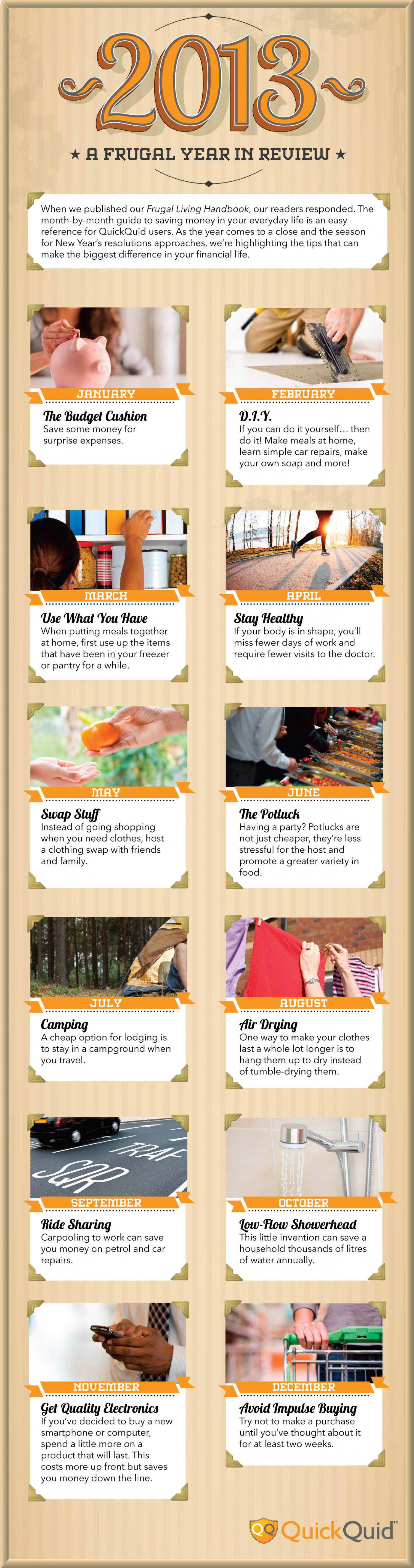 A Frugal Year in Review Infographic