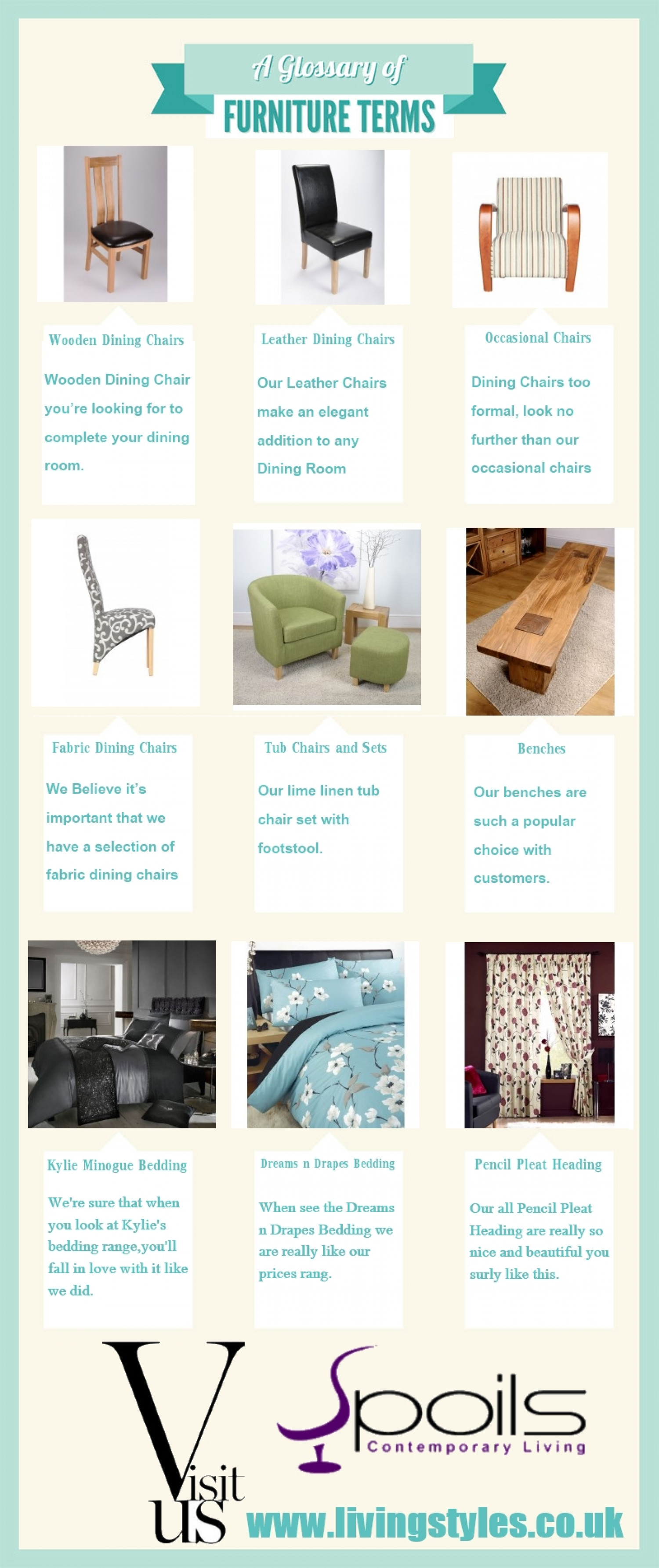 A Glossary of Furniture Terms Infographic
