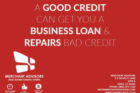 A Good Credit Can Get You A Business Loan & Repairs Bad Credit Infographic